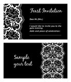 Flower lace, greeting card Royalty Free Stock Photos