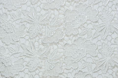 Flower lace pattern on fabric. Royalty Free Stock Photography