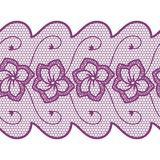 Flower lace seamless border Stock Photo