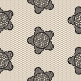Flower lace seamless pattern net. Royalty Free Stock Images