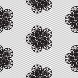 Flower lace seamless pattern net. Royalty Free Stock Photo