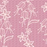 Flower lacy seamless background Royalty Free Stock Images