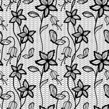 Flower lacy seamless background Royalty Free Stock Image