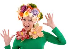 Flower lady. Royalty Free Stock Image