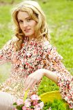 Flower lady Stock Photography
