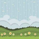 Flower landscape Royalty Free Stock Photo