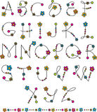 Flower latin alphabet Royalty Free Stock Photos