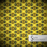 Flower lattice loop Gold vintage geometric seamless pattern vect Stock Photo