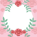 Flower and leaf frame background Royalty Free Stock Images
