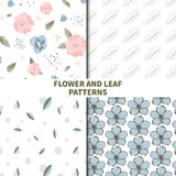 Flower and leaf patterns Stock Image