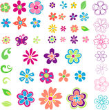 Flower & Leaves Illustration royalty free illustration