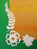 Flower and leaves. Paper cutting. Stock Images