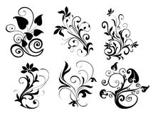 Flower and leaves pattern Royalty Free Stock Images