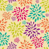 Flower Leaves Seamless Pattern Background Vector Royalty Free Stock Photo