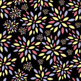 Flower Leaves Seamless Pattern Background Vector. Illustration. This is file of EPS10 format Stock Images