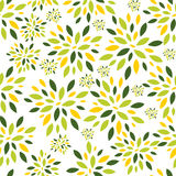 Flower Leaves Seamless Pattern Background Vector Stock Photo