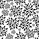 Flower Leaves Seamless Pattern Background Vector Stock Photos
