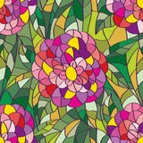 Flower leaves seamless pattern Stock Photos
