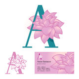 Flower letter A Royalty Free Stock Images