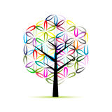 Flower of Life. Art tree, sketch for your design Royalty Free Stock Photos