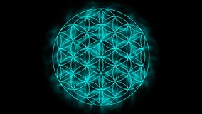 Flower of life with aura