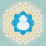 Flower of life with Buddah inside Stock Photography