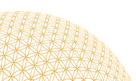 Flower of life gold 3D Sphere 2 Stock Images