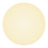 Flower of life gold 3D Sphere Stock Image