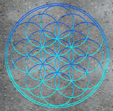 Flower of life. Sacred geometry - symbol harmony and balance Stock Photos