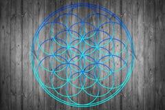 Flower of life. Sacred geometry - symbol harmony and balance stock photo