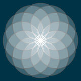 Flower of Life. Sacred Geometry. Symbol of Harmony and Balance. Vector Illustration Stock Photo