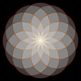 Flower of Life. Sacred Geometry. stock illustration