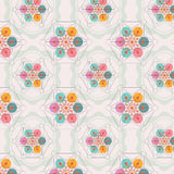 Flower of life seamless pattern stock illustration