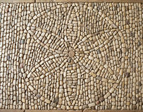 Flower of Life symbol mosaic, Hautefort castle Stock Image