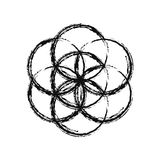 Flower of Life, vector. Sketch doodle Flower of Life, vector Royalty Free Stock Images