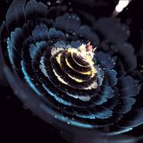 Flower light Bloom Fractal Art. Apophysis rendered fractal art a Bloom style fractal art used for abstraction royalty free stock photo