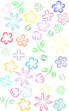 Flower line art Royalty Free Stock Photography