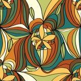 Flower line draw seamless pattern Stock Photos