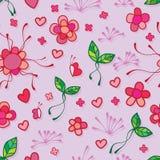 Flower line fly butterfly seamless pattern vector illustration