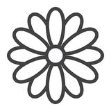 Flower line icon, easter and holiday, nature sign. Vector graphics, a linear pattern on a white background, eps 10 Royalty Free Stock Photo