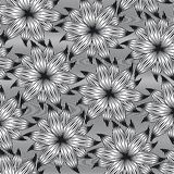 Flower line pattern Royalty Free Stock Photography