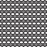 Flower Line Seamless Pattern - Black and White Colors Stock Photography