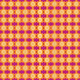 Flower Line Seamless Pattern - Orange and Purple Stock Images