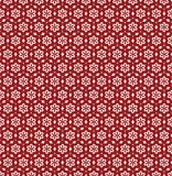 Flower Line Seamless Pattern - Red and White Colors Royalty Free Stock Image