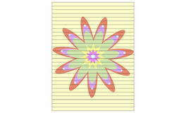 Flower lined stationery Royalty Free Stock Photography