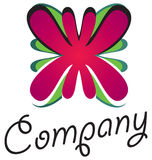 Flower logo 01 Royalty Free Stock Images