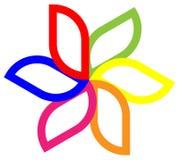Flower logo stock illustration