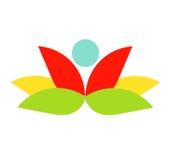 Flower logo Stock Photography