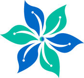 Flower logo Stock Photo