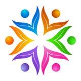 Flower logo. Illustration of flower logo design isolated on white background Royalty Free Stock Photography